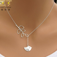 Hot Fashion Collares Collier Corss Jewelry Leaves Bird Pendant Necklace Maxi Statement Chokers Necklace For Women 2017 Jewelry(China)