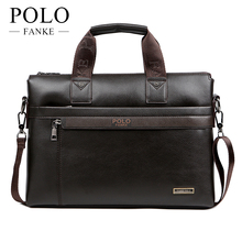 FANKE POLO Men Casual Briefcase Business Shoulder Bag Leather Messenger Bags Computer Laptop Handbag Men's Travel XB114NEW