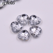 100pcs 15mm Clear White Rhinestones Buttons Sewing Heart Buttons Flatback Crystal Button for Coats Clothing Scrapbooking Crafts