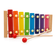 New Colorful Hand Knocks Musical Instrument Toys Development Music Ability Training Instrument Wooden Toys for Kids Gift(China)