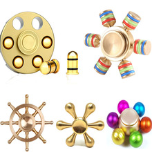 Revolver Bullet Fidget Spinner Hexagonal DIY Colorful Six Arms Rainbow Rudder Hand Relieves Stress Toy