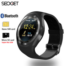 "1.54"" Bluetooth Smart Watch Android IOS 2G smart phone watch Support TF/SIM card fitness watch Pedometer Message push smartwatch(China)"
