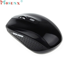 mosunx Gaming Mouse Gamer Sem Fio CS GO Black Portable 2.4G Wireless Optical Mouse Mice For Computer PC Laptop Gamer #3331
