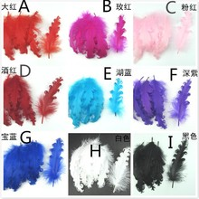500pcs/lot 12-17cm curly goose feather for head band or hair accessory goose plumes for jewelry hat DIY material(China)