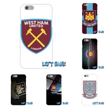 West Ham United FC logo Soft Silicone TPU Transparent Phone Cover Case For iPhone 4 4S 5 5S 5C SE 6 6S 7 Plus