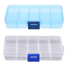 Travel Outdoor Splitter Pill Case 10 Compartments Waterproof Transparent Plastic Pill Box Organizer Tablet Storage Cover Case(China)
