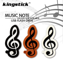 High Quality Music Sign Memory Stick 16GB 8GB 4GB Pen Drive USB Flash Drive 64GB 32GB Lovely USB Flash Device pendrive 2017