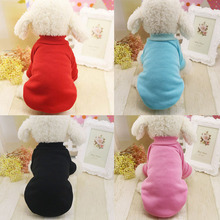 Classic Pet Dog Clothes Solid Colors Design Hoodie Soft and Comfortable Cotton Material Clothes for Dogs(China)