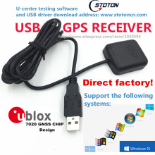 STOTON PC Navigation USB GPS Receiver Module Antenna GMOUSE 0183 NMEA Output USB Replace VK-162 GlobalSat BU-353s4  BU353S4