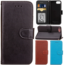 Buy Iphone7 Luxury Single Color PU Leather Wallet Strap Flip Fundas Phone Case Apple Iphone 7 7plus 7 Plus Back Cover Capa for $5.00 in AliExpress store