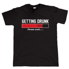 LEQEMAO Getting Drunk Mens Funny Beer T Shirt - Gift For Dad (S to 2XL)