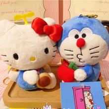 Cute 6 inch Japanese Hello Kitty Doraemon Plush Toys Pendant Kawaii Cat Stuffed Doll Bag accessory Baby Toy Kids Children Gifts