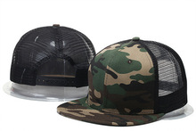 New Fashion Unisex Street Hiphop baseball cap Girls Boys Rock Style Blank mesh camouflage hip hop mens Hat Cool Street dance cap