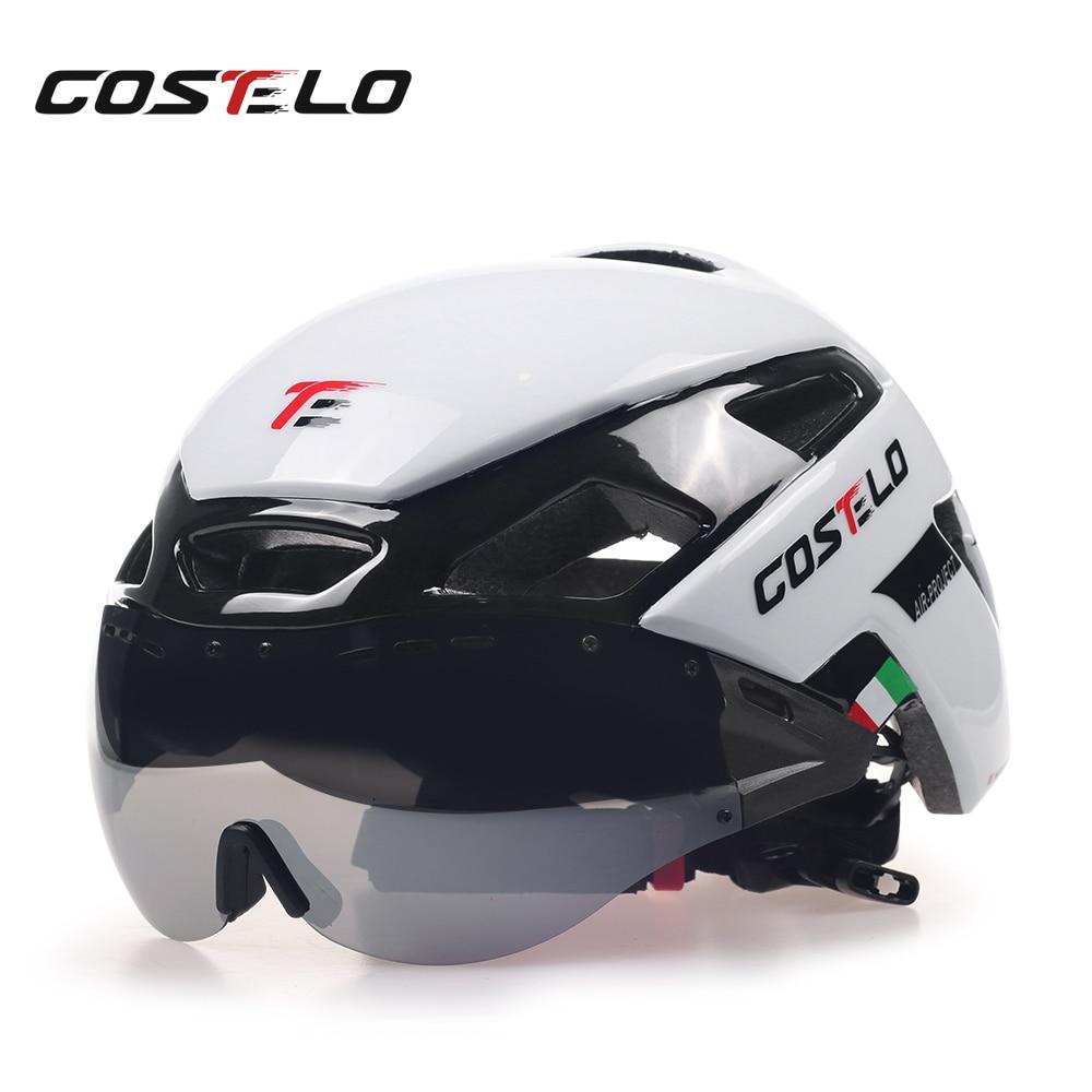 2017 Costelo Cycling Light Helmet MTB Road Bike Helmet Bicycle Helmet Speed Airo RS Ciclismo Goggles Safe Men Women 230g<br>