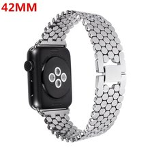 38mm/42mm Stainless Steel band Replacement fitness Smart Watch Wrist band Straps +Adapter bracelet for Apple Iwatch