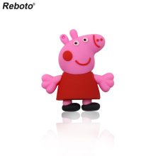 Cartoon Pink Pig Usb Flash Drives 4G 8G 16G 32G 64G Pen Drive Memory Stick PenDrives Real Easy Learning USB Disk