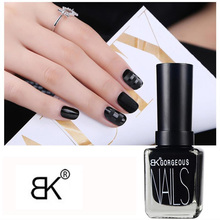 BK Brand Matte Nail Polish Frosted Surface Oil Dull Nail Lacquer Professional Pure Matt 12 Colors Enamel Paint 15ml