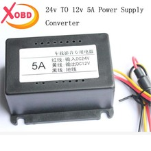 Free Shipping DC 24V to DC 12V 5A Step-up Car Power Converter Inverter, Buck Module Voltage Regulators(China)