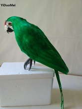 large 43cm green feathers parrot artificial bird model handicraft,prop,home garden decoration gift p1823(China)