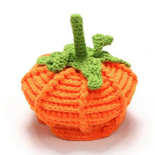 0-2-5 months Toddler baby Orange Pumpkin Hat Crochet Baby Pumpkin Hat Halloween Knitting Hat Baby Girls Boys Beanie 1pc
