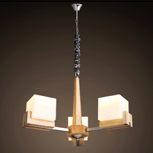 American Country Wooden Pendant Light Top Grade Drawer Shaped Pendant Lamp Bed Room Lighting Decor(China)