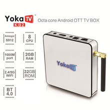 KB2 TV Box Android 6.0 Amlogic S912 Octa Core 2GB/32GB WiFi 17.0 IPTV Smart TV Box Media Player Family Using TV Center Box