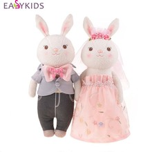 2pcs/set Wedding Metoo Rabbit Plush Kid Toys Metoo Couples Soft Stuffed Cloth Dolls Christmas Girl Children Gift Toys(China)