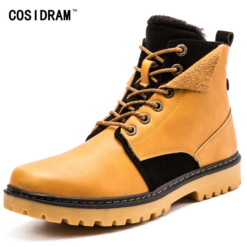 Warm Winter Ankle Martin Boots Work Shoes With Fur...