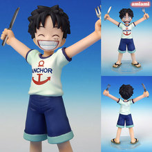 1 Pcs Japanese Anime One Piece Anime Figure Monkey D Luffy Figures PVC Action MH POP Dolls MILD Model Toys Kids Children Gifts(China)