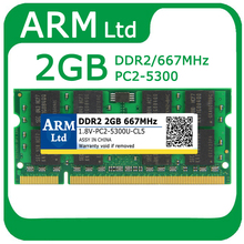 Sealed DDR2 667Mhz 2GB PC2-5300 SODIMM 200-pin Memory Ram memoria rams For Laptop Notebook Good quality