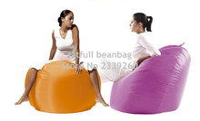 Cover only No Filler- Orange huddle design island round bean bag chair, adults yoga beanbag cushion(China)