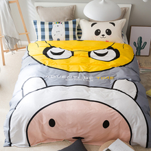 new arrival quality polyester pear yellow queen twin full bedding bed sheet set bedclothes duvet cover set bedding set(China)