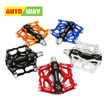 Autoway Cycling Pedals Aluminum Bike Pedals Fixed Gear Mountain Bike Downhill Pedals Bearings Accessories Bicycle Pedals