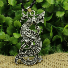 LANGHONG 10pcs New Legendary Dragon Necklace Nordic Vikings Dragon Amulet Pendant Necklace Original Jewelry Talisman(China)