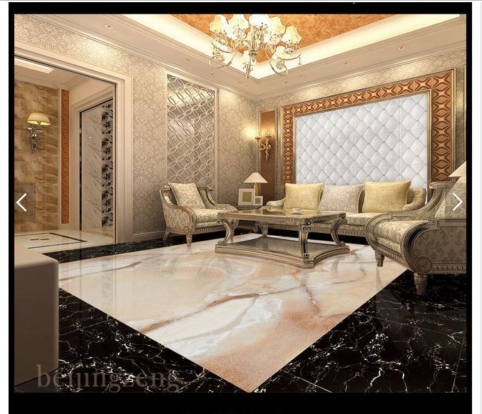 custom 3d photo wallpaper 3d flooring painting wallpaper M red jade living room lobby marble stone floor 3d living room wallpaer<br>