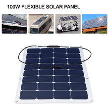 100W 18V 12V Solar Panel Sunpower Flexible solar panel Lightweight Waterproof Dust-proof Charger for RV, Boat, Yacht, Cabin,(China)