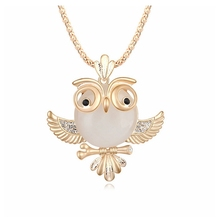 Women's High Quality  Owl Sweater Long Chain Pendant Necklace Fashion Oval Charms Jewelry Girl Casual Dress Jewellery
