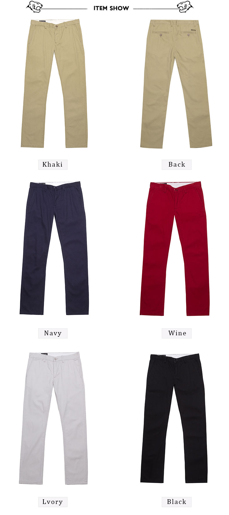 Spring Solid Mens Casual Pants Cotton Stretch Black Mens Slim Fit Long Trousers Fashion Zipper Fly High Quality Brand Clothing 21