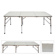 Portable Aluminum Alloy 3-Fold Table Adjustable Light Weight Foldable Table for Camping Outdoor Picnic Hot Sale(China)