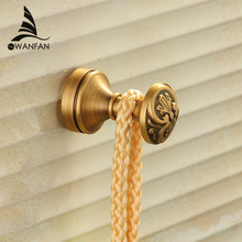Robe Hooks Antique Brass Wall Hook Single Clothes Hanger Towel Hooks Bathroom Accessories Decorative Coat Door Hooks MD-979(China)