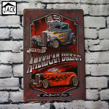 Hot Rod Vintage Poster Metal Tin Signs 20X30CM Iron Plate Wall Decor Plaque Club Pub Home Bar Shop Garage Wall Picture