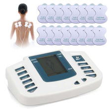 Electric body massager Slimming Tens pad Acupuncture Therapy foot Neck back relaxing Health Care Massage Machine device 16 pads(China)
