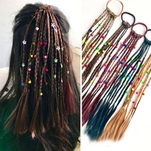 Buy 2pc Fashion Children Wig Braids Multi-color Mini Clip Kids Elastics Hair Bands Girl Cute Hair Accessories Korean Style Hair Rope for $3.63 in AliExpress store