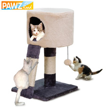 H52CM Cat Toy Scratching Post Wood Climbing Cat House Cat Tree Jumping Standing  Frame Cat Furniture Pet Supplies HOT!!!
