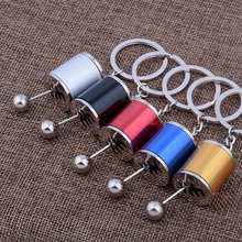 2017 Creative 5 Colors Auto Car Tuning Parts Chrome Finish Gear Box Shifter Key Chain Fob Ring Turbine Nos Keychain Keyring