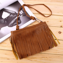 Ladies Small Tassel PU Leather bags Women's Punk Satchel Suede Shoulder Bag Women Messenger CrossBody Bag Female