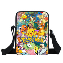 Anime Pokemon Mini Messenger Bag Cartoon Character Pikacun Daily Bag Boys Girls School Bags Children Bookbag Gift Bags For Kids