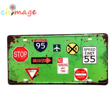 Public wall Painting Pub Cafe Hotel decor for Room Craft Traffic sign(China)