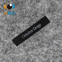 Free design two colors care labels for 2000pcs/lot  clothes customized garment bags shoes satin labels print ribbon wash  tag