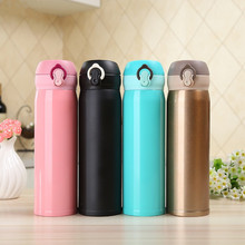 Stainless steel vacuum bottle 2017 fashion Mini car cups of Insulation hand coffee cup student sport cheap and accessible thermo(China)